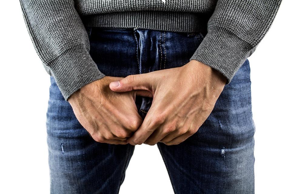 când este ridicat, penisul stă în poziție verticală