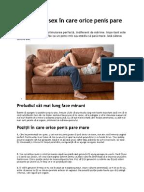 Pozitii sexuale ideale pentru un penis mare - univegaconstruct.ro