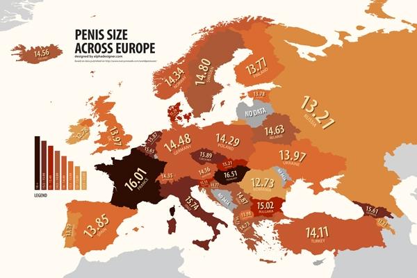 dimensiunile penisului în Europa