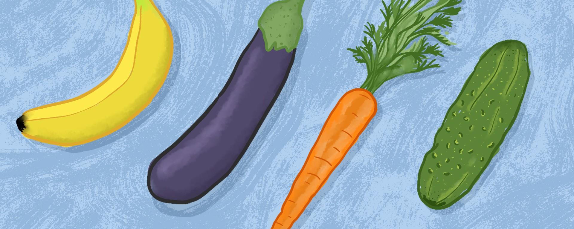 penis în formă de morcov)