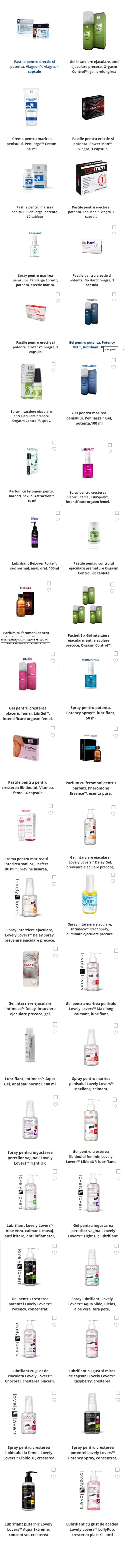produse pentru promovarea erecției